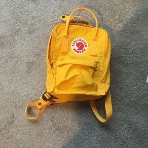 Sold Yellow Fjallraven Kanken mini backpack